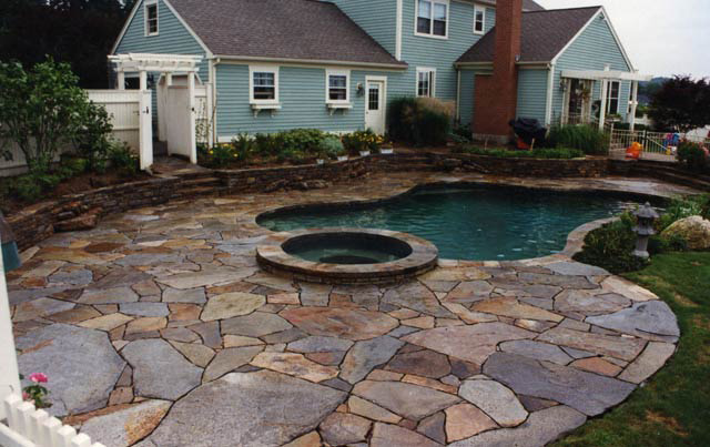 Patio Pictures Stunning Of Stone Patio Photo